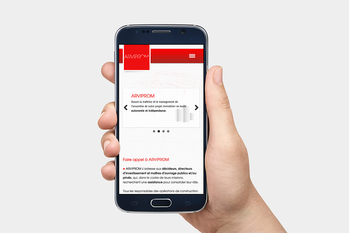 site web smartphone Arviprom